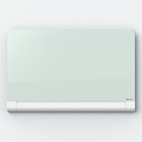 1905192 - Nobo Diamond Glass Round Cornered Whiteboard with Concealed Pen Tray, 1264x711mm - 57""