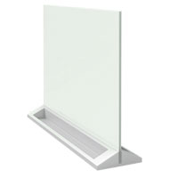 1905265 - Nobo Glass Desktop Whiteboard - White