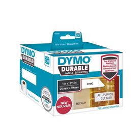 1933081 - Dymo 1933081 LabelWriter Durable shelving labels, 25mm x 89mm - Black on White - 700 Labels