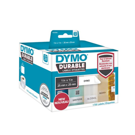 1933083 - Dymo 1933083 LabelWriter Durable square multi-purpose, 25mm x 25mm - Black on White - 1700 Labels