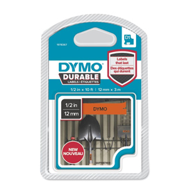1978367 - Dymo 1978367 D1 Durable 12mm x 3M Tape - Black on Orange