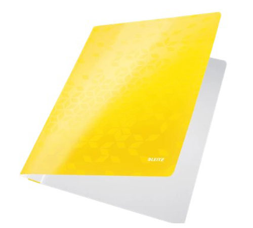 3001-00-16 - Leitz WOW Yellow flat folder - Box of 10