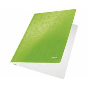 3001-00-54 - Leitz WOW Green flat folder - Box of 10