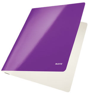 3001-00-62 - Leitz WOW Purple flat folder - Box of 10