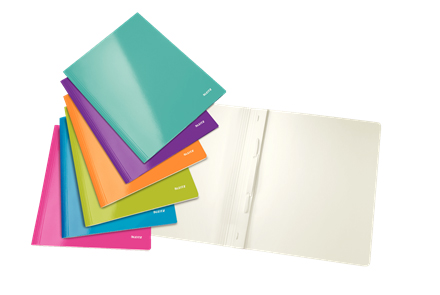 3001-10-99 - Leitz WOW Assorted Colour Flat Folders - Pack of 6