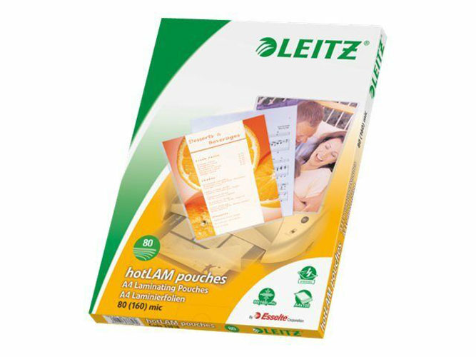 33818 - Leitz A4 Laminating Pouches, Pack of 100 - 80 micron