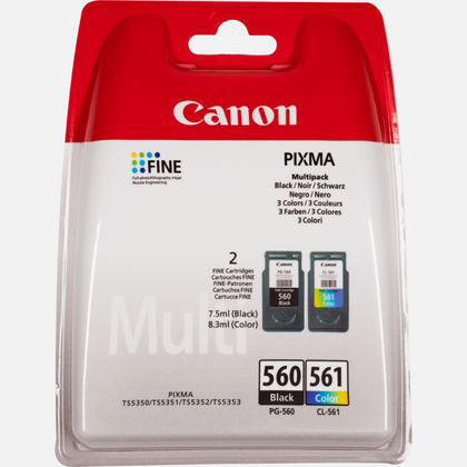 3713C006 - Canon PG-560 / CL-561 Multipack of both Black & Colour Ink Cartridges