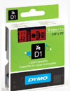 S0720720 - Dymo 9mm Black on Red Tape x 7m - (legacy code-40917