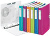 4240-00-23 - Leitz WOW Pink 4 'D' Ring Binder 30mm  - Pack 5