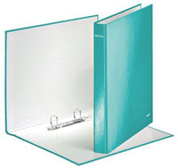 4241-00-51 - Leitz WOW Laminated Ice Blue 2 Ring Binder - Box of 10