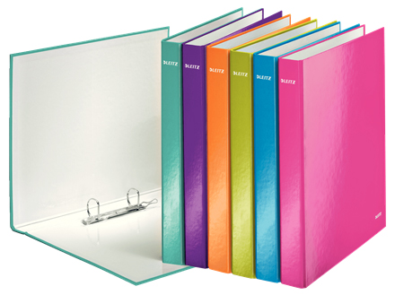 4241-20-99 - Leitz WOW Laminated Assorted Colour 2 Ring Binder - Box of 10