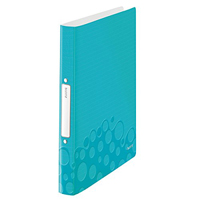 4257-00-51 - Leitz WOW Ice Blue 2 Ring Binder 25mm  - Pack 10