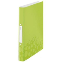 4257-00-64 - Leitz WOW Green 2 Ring Binder 25mm  - Pack 10