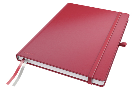4479-00-25 - Leitz Complete Notebook - A6 Squared with Hard Cover - Red - Discontinued By Leitz/ACCO