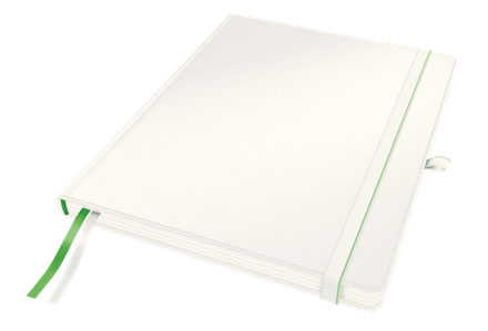 4474-00-01 - Leitz Complete Notebook - iPad Size, Ruled with Hard Cover - White