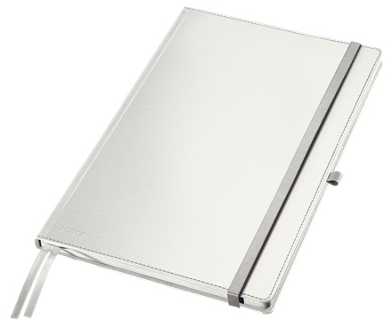44750004 - Leitz Style White Notebook A4 ruled with hardcover, the elegant notebook for professionals