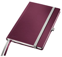 44870028 - Leitz Style Soft Cover Notebooks, Ruled A5, Pack of 5 Note Books - Garnet Red