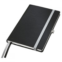 44850094 - Leitz Style Notebooks, Ruled A5, Pack of 5 Note Books - Satin Black