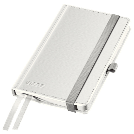 44890004 - Leitz Style White Notebook A6 ruled with hardcover, the elegant notebook for professionals