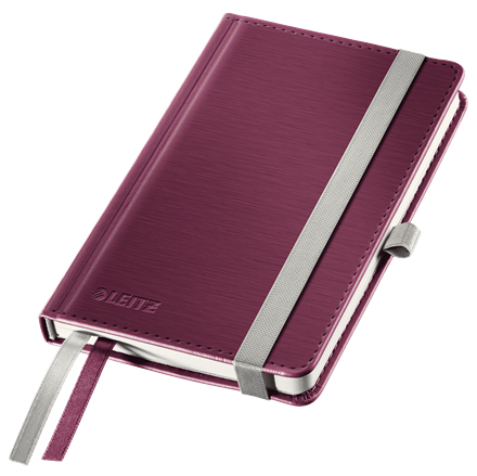 44890028 - Leitz Style Red Notebook A6 ruled with hardcover, the elegant notebook for professionals