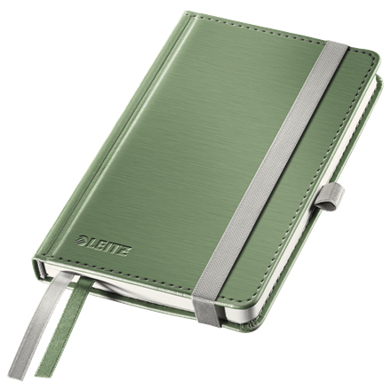 44890053 - Leitz Style Green Notebook A6 ruled with hardcover, the elegant notebook for professionals