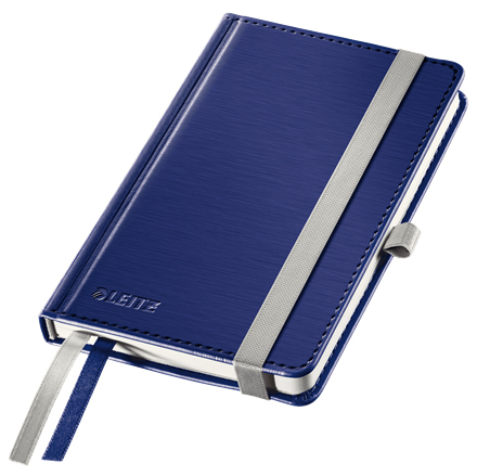 44890069 - Leitz Style Blue Notebook A6 ruled with hardcover, the elegant notebook for professionals