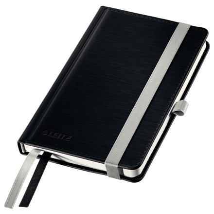 44890094 - Leitz Style Black Notebook A6 ruled with hardcover, the elegant notebook for professionals