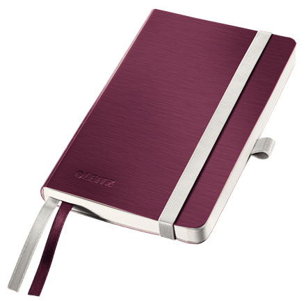 44920028 - Leitz Style Notebook A6 ruled with softcover - Garnet Red, Pack of 5 Note Books