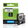 S0720530 - Dymo 12mm Black on White Tape x 7m - (legacy code-45013)