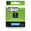 S0720600 - Dymo 12mm White on Clear Tape x 7m - (legacy code-45020)