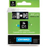 45812 - Dymo 19mm Black on Silver Tape x 7m