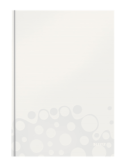 46251001 - Leitz WOW Pearl White 80 page A4 ruled notepad - Pack of 6