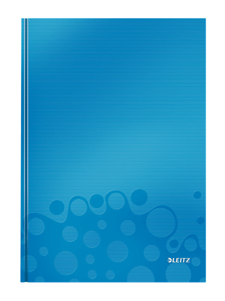 4625-10-36 - Leitz WOW metallic Blue 80 page A4 ruled notepad - Pack of 6