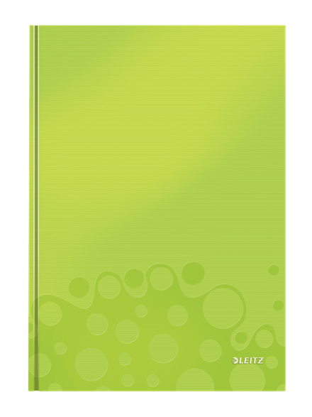 4625-10-64 - Leitz WOW metallic Green 80 page A4 ruled notepad - Pack of 6