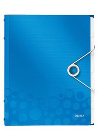 46330036 - Leitz WOW Divider Book, 6 tabbed dividers in Vivid Blue - Pack of 4