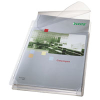 4757-30-03 - Leitz Expanding Pocket with Flap A4 PVC 170 microns - 10 x packs 5 - Transparent