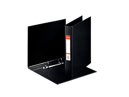 47687 - Esselte VIVIDA Ring Binder A5, Box of 10 Black Ring Binders