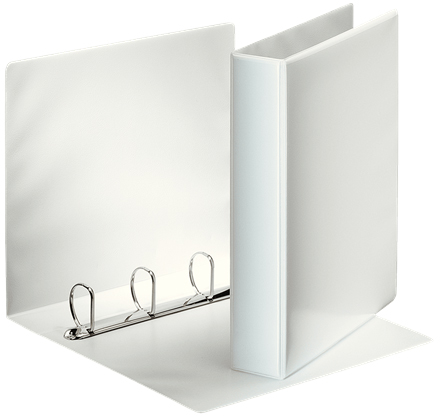 49706 - Esselte Essentials Presentation Binders, White, Box of 10, A4 4 D Ring Folders
