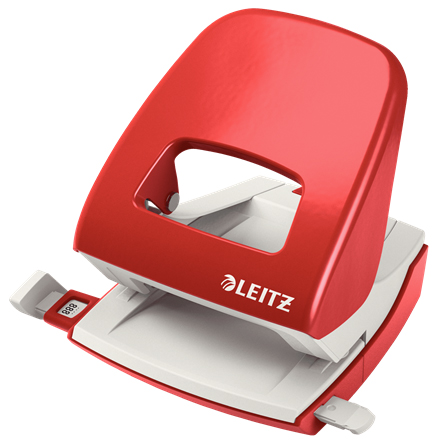 50080325 - Leitz NeXXt Series WOW Metal Office Hole Punch, Red Medium Duty Hole Punch - 50080025