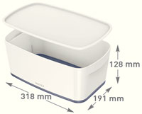 52291001 - MyBox® - Small Storage Box with Lid - White/Grey