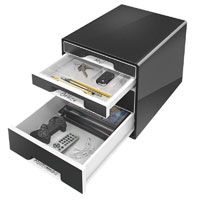 52520095 - Leitz Black WOW - 4 Drawer Desktop Cube Cabinet/Organiser