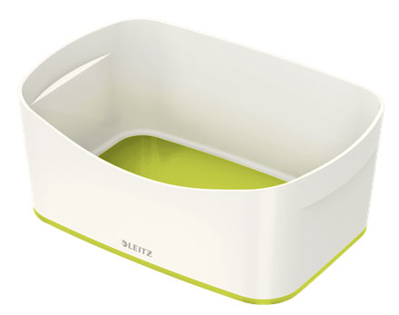 52571064 - MyBox - Storage Tray - White & Green, 246 x 98 x 160mm