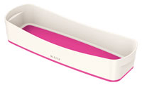 52581023 - MyBox - Long Organiser Tray - White & Pink
