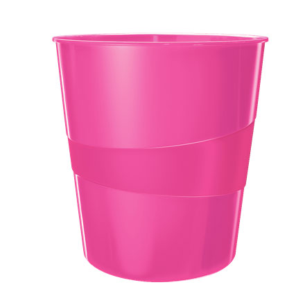 52781023 - Leitz WOW Pink Waste Bin - Box of 6