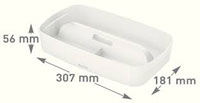 53230001 - MyBox® - Organiser Tray with Handle Small - White
