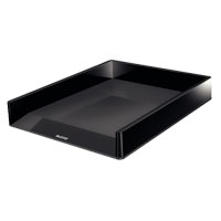 53611095 - Leitz WOW Letter Tray - Black - Dual Colour