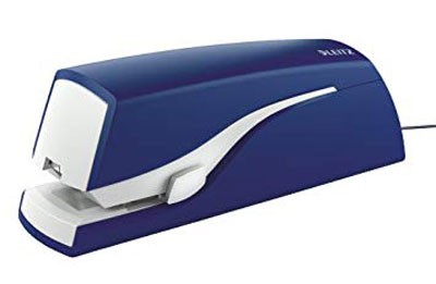 55330035 - Leitz New NeXXt Electric Flat Clinch Stapler - Blue, 20 Sheet Stapler