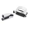 5561-20-01 - Leitz Wow NeXXt Series Metal Mini Stapler and Hole Punch Set - Pearl White