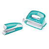 5561-20-51 - Esselte Leitz Wow NeXXt Series Metal Mini Stapler and Hole Punch Set - Ice Blue