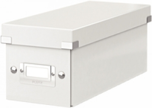 6041-00-01 - ACCO Leitz White Click & Store CD Storage Box